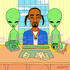 Snoop Dogg with aliens